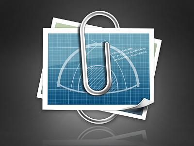 Atttach app icon ios paper clip base camp app icon