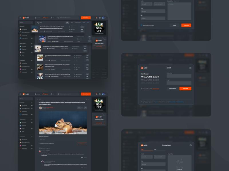 Reddit Redesign Challenge yusufmatra web design ui design challenge dashboard social media design app design redesign reddit