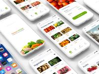 Farmers market mobile app mockup