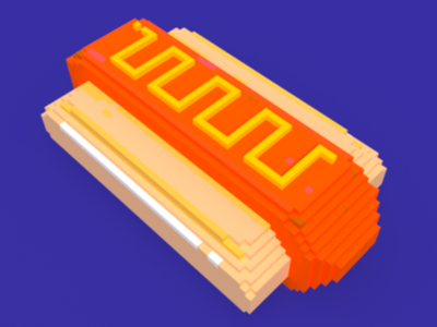 Hotdog 3d pixel