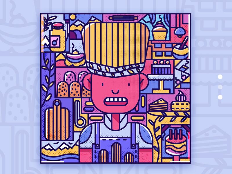 Baking web illustration design illustration ui