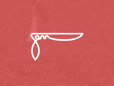 Winter Sunday Machete Concept Mark design graphic illustration identity logo
