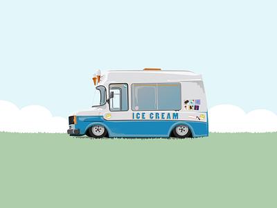 Abandoned childhood ice cream illustrator illustration