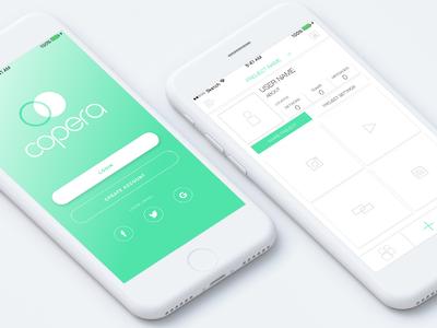 Copera Collab App identity design ios ui ux