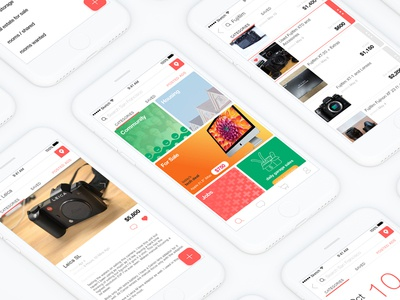 CLplus mobile app craigslist sketch product design app ios ui ux