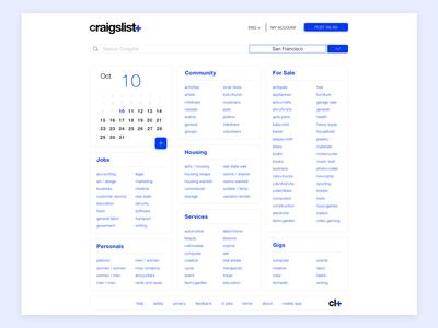 Craigslist redesign  craigslist sketch product design minimalist web ui ux