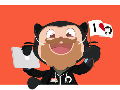 Newest bearded GitHubber illustration octocat github