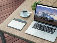 macbook fresh morning coffee 2 - Macbook Next To A Fresh Morning Coffee (FREEBIE)