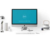 stylish workspace with imac 1 - Stylish workspace with Apple iMac (FREEBIE)