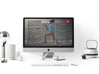 stylish workspace with imac 2 - Stylish workspace with Apple iMac (FREEBIE)