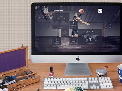 Apple iMac on office desk (FREEBIE) apple free high-resolution mockup mock-up photorealistic photoshop psd workspace macbook