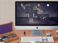 Imac on office desk 2