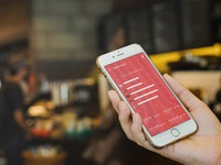 gold iphone blurred bg 2 - Gold iPhone With Blurred Background (FREEBIE)