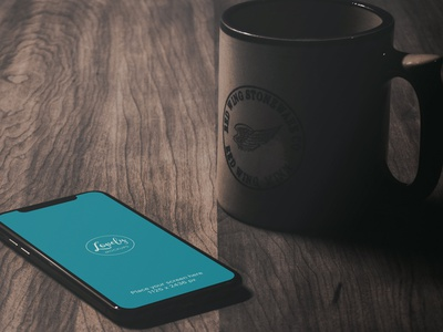 iPhone X On A Wooden Table (FREEBIE) iphone x workspace psd photoshop photorealistic mock-up mockup high-resolution free apple
