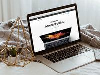 Apple macbook pro on bed 2