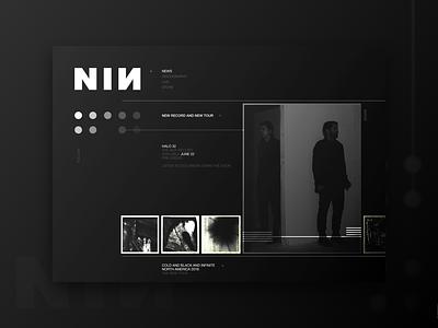 NIИ nin minimal design music concept web ux ui dark