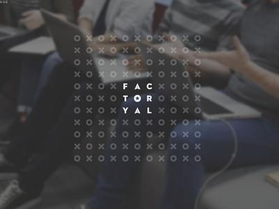 Identity Design for Factoryal elegant clean brand india hyderabad incubator startup logo identity