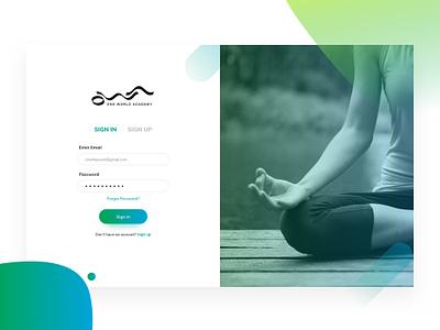 OWA onboarding ui training india yoga online academy login ui ux