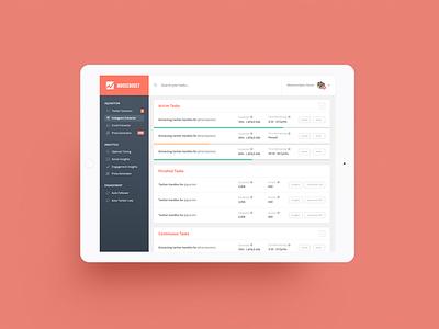 Dashboard design ui web dashboard