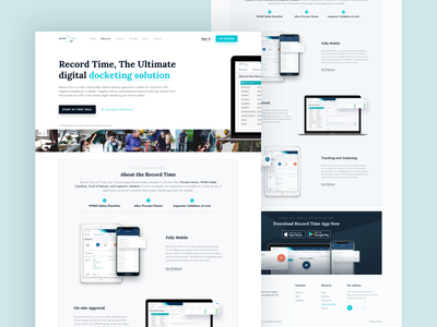 Record Time App Website Redesign saas features page homepage web ux ui simple uidesign minimal