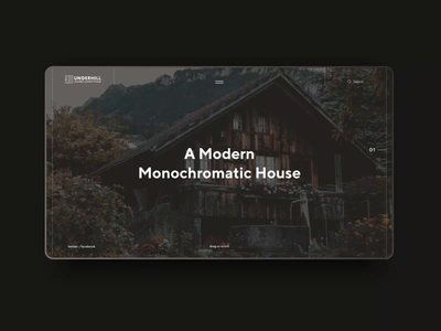 Simple landing page / Custom wooden houses