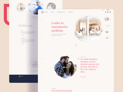 Unica - Reproductive Clinic Web Design clinic reproduction happy kids medical medicine reproductive website landing page webdesign design ux ui