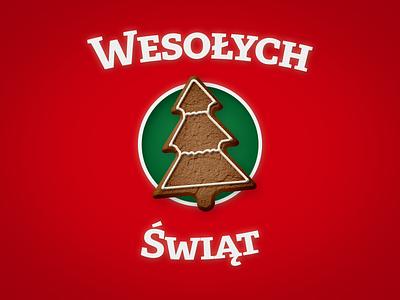 Gingerbread Christmas Card merry christmas wesołych Świąt gingerbread tree