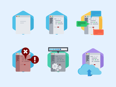 Badges badge icon development application flat