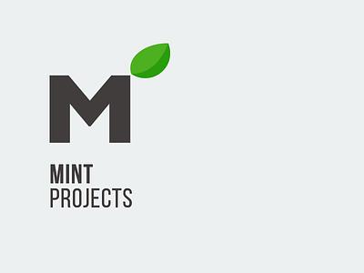Mint Projects logo mint leaf