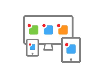 User interface desktop mobile ui responsive visual design minimalistic ui user interface icon