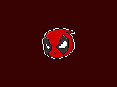 Pixel Deadpool fan art pixel art marvel comics pixel deadpool pixelart