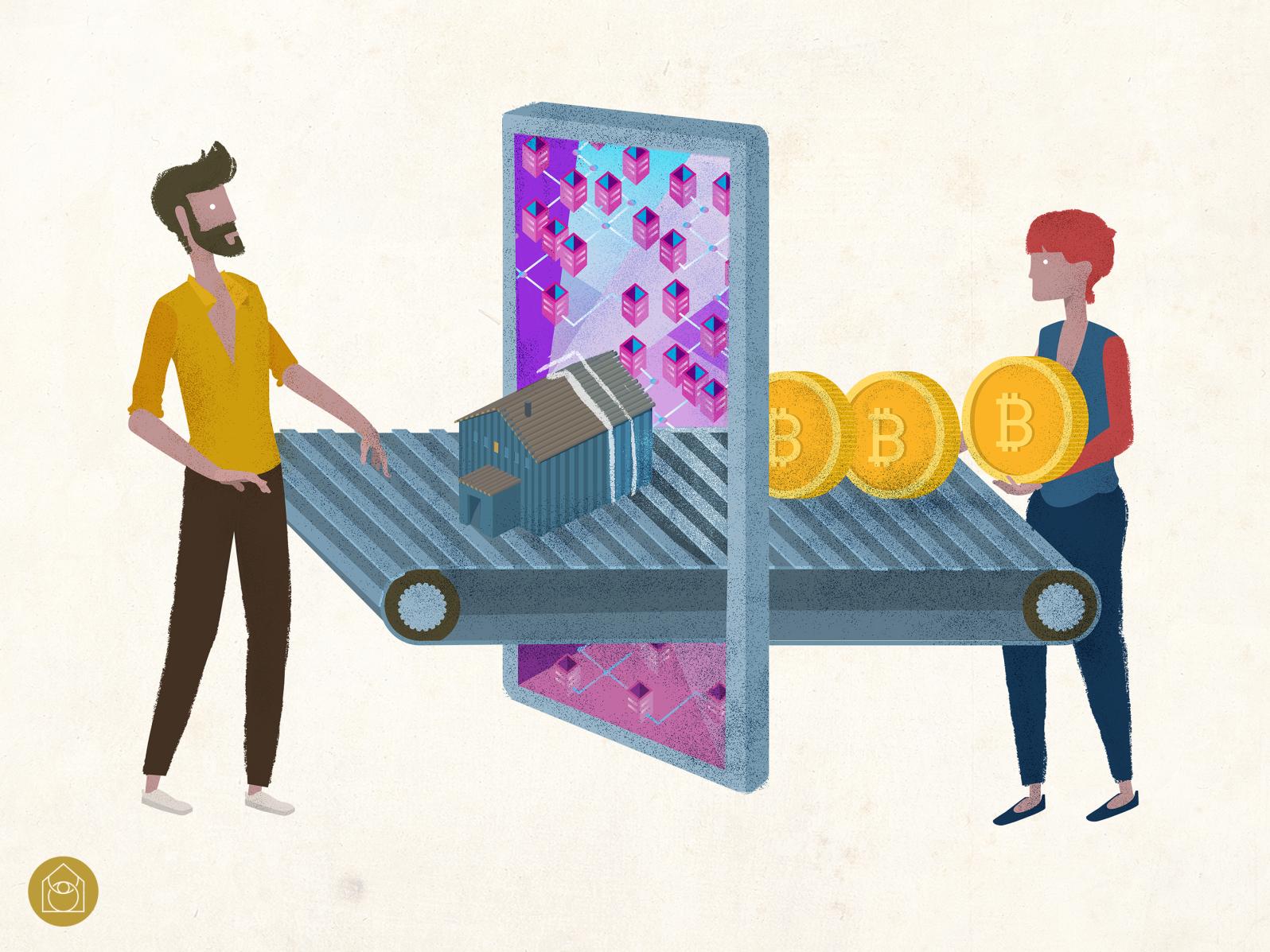 CryptoCurrency Illustration / Tokenization