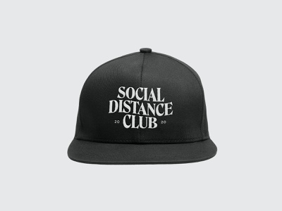 Social Distance Club - 2020 coronavirus socialdistancing covid19 branddesign logo graphic design typogaphy apparel logo apparel branding logodesign