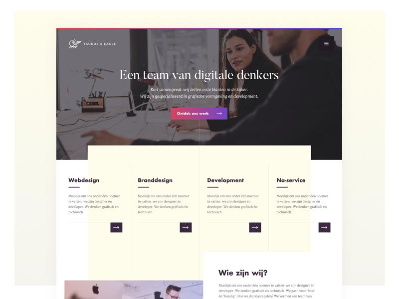 Taurus & Eagle - Webdesign brand-design rebranding webdesign