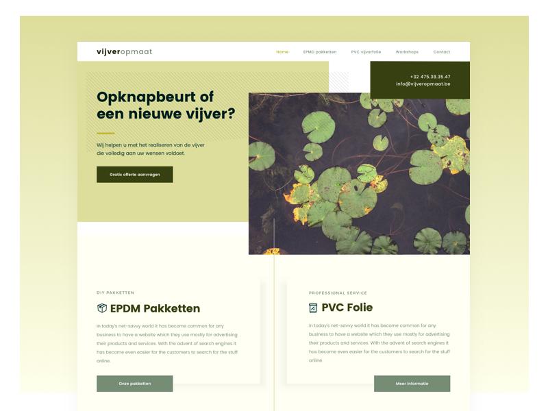 Vijver-op-maat.be responsive webdesign branding