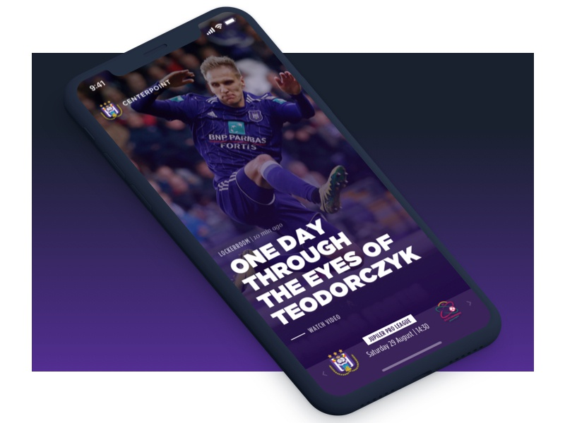 RSC Anderlecht - Fan Engagement Platform mobile application engagement fan app soccer rsca