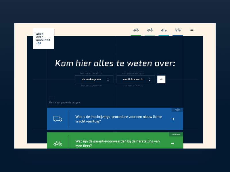 Traxio - allesovermobiliteit.be information knowledge platform mobility branddesign uxdesign uidesign