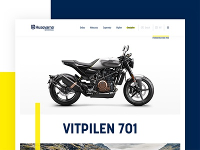 Design Challenge 01 - Vitpilen 701 ux-design ui-design digital design rebranding redesign website bike