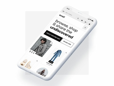 Avail - Browse, Shop & Share the Undiscovered uxdesign branding branddesign ui-design webdesign retail ecommerce fashion platform