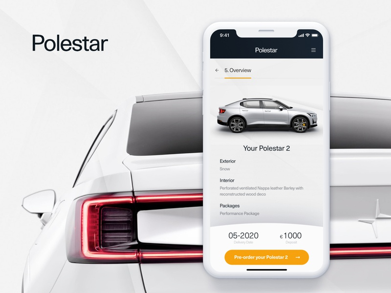 Concept Design - Polestar 2 Configurator uxdesign volvo electric car configurator car automotive ui-design design digital design application