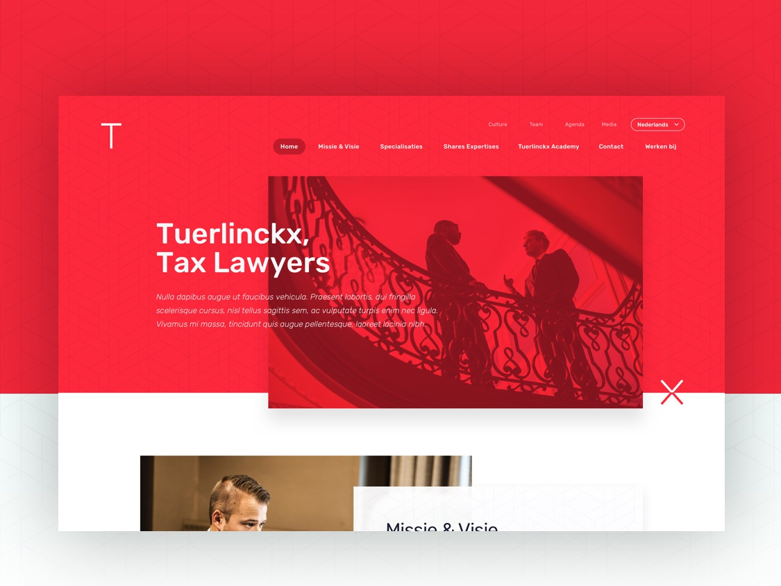 Tuerlinckx Branding + Webdesign corporate digital design branddesign uxdesign uidesign webdesign branding firm lawyer