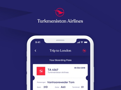 Turkmenistan Airlines logodesign digital design corporate uidesign uxdesign ui-design application branddesign branding
