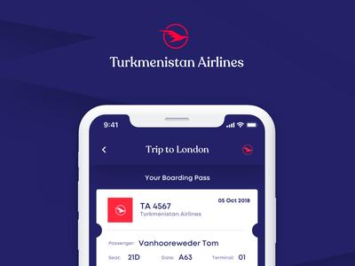 Turkmenistan Airlines logodesign digital design corporate uidesign uxdesign ui-design application branddesign branding