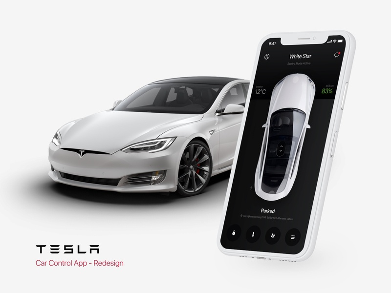 Tesla Car Control App application control automotive tesla