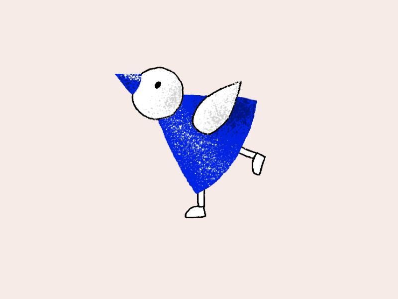 Birdie no. 2 sharpie photoshop bird illustration