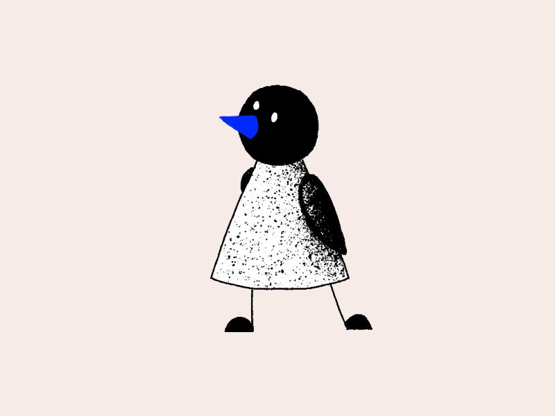 Birdie no. 3 photoshop sharpie bird illustration