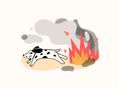 Fire sharpie photoshop illustration