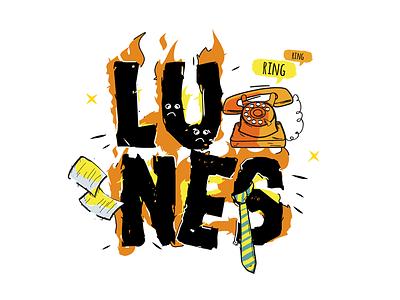 Monday / Lunes illustration office trabajo work rutina lunes monday routine