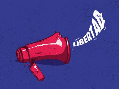 Freedom of speech media illustration design peace freedom politics venezuela rights human