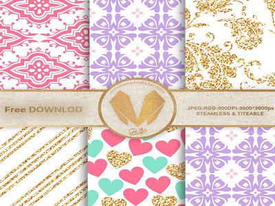 Digital paper pack color planner invitation imprimé print card notebook illustration vector gift digital free paper graphic design branding